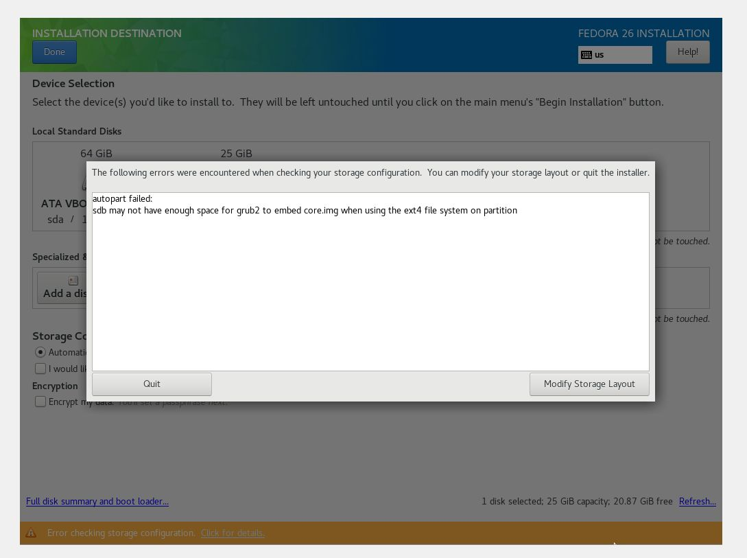 SOLVED] Windows 10 (with BitLocker) + Fedora 26