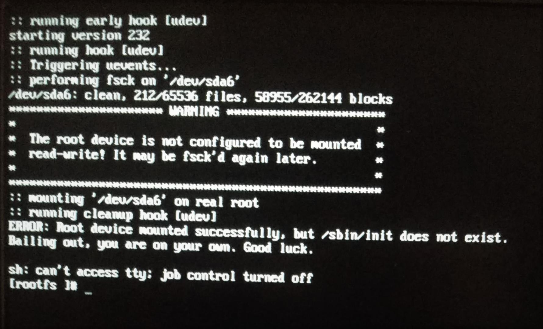 Unable to boot after upgrading to Kernel 4 14 on Fedora 27