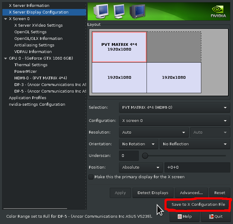 Trying to set up 4 monitors on 2 Nvidia Geforce 710 cards